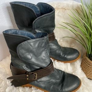 BUCCO blue and brown boots